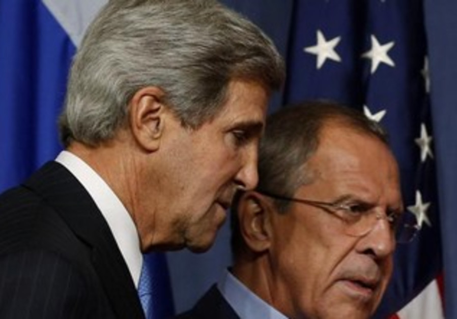 US Secretary of State John Kerry and Russian Foreign Minster Sergei Lavrov.