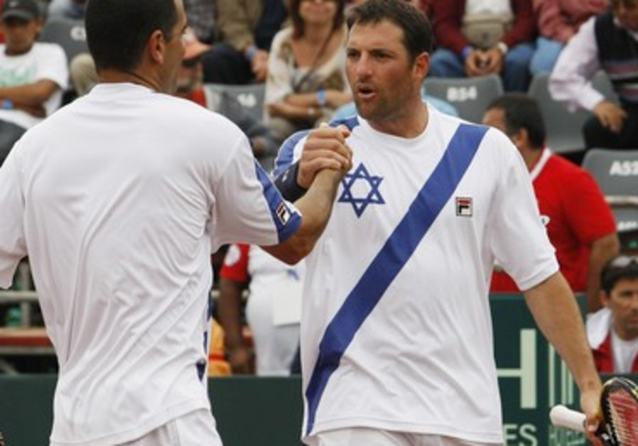Tennis duo Andy Ram and Yoni Erlich.