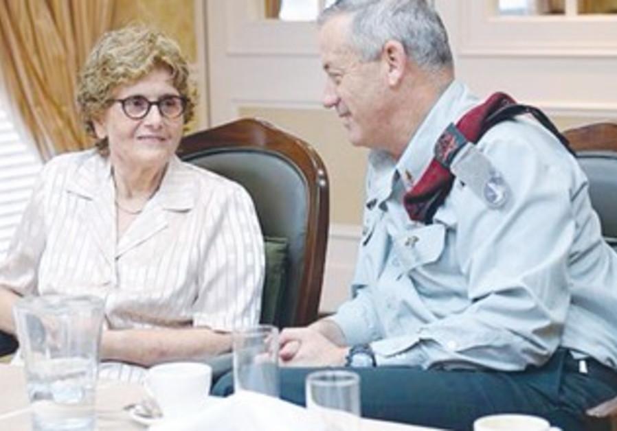 CHIEF OF STAFF Lt.-Gen. Benny Gantz with Telma Elazar