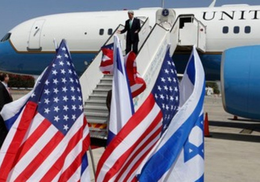 John Kerry arrives in Israel to brief Netanyahu on Syria on September 15, 2013.