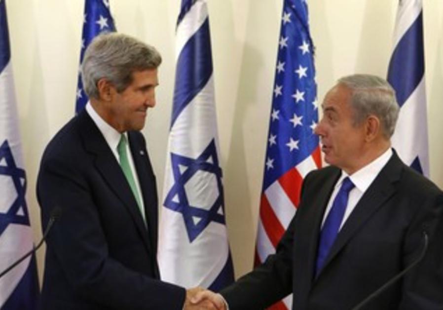 Prime Minister Binyamin Netanyahu and US Secretary of State John Kerry in Jerusalem, Sept. 15