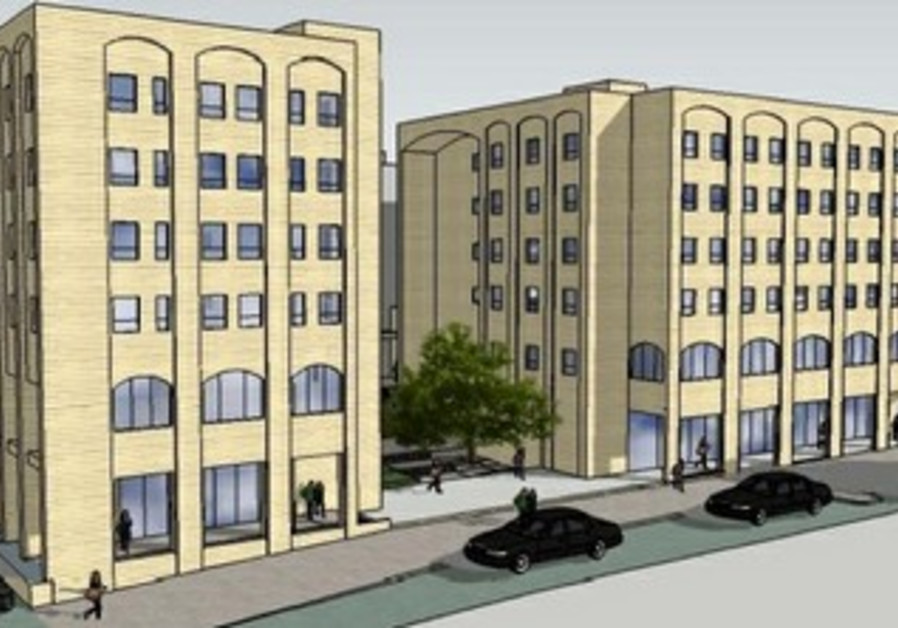 Rendering of Bezalel's planned dorms.