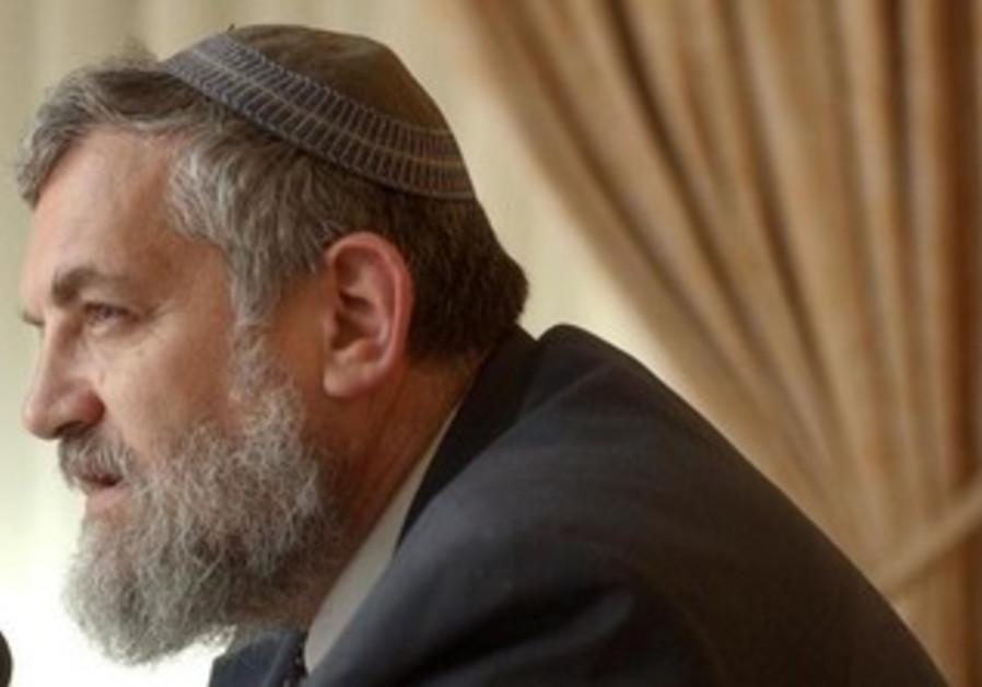 Former tourism minister Rabbi Bennie Elon.