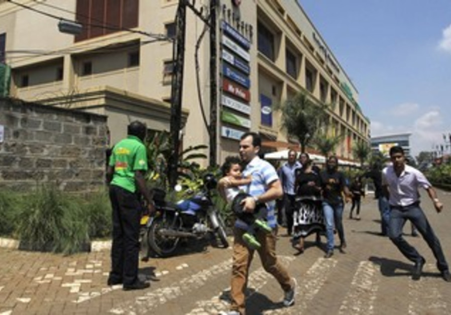Customers run following a shootout