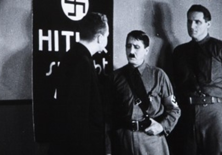 "A scene from the 1934 US anti-Nazi film ""Hitler's Reign of Terror."""