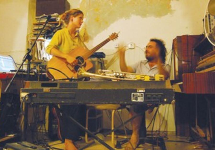 Singer Amy McKnight seen here with Israeli musician Amir Bolzman.