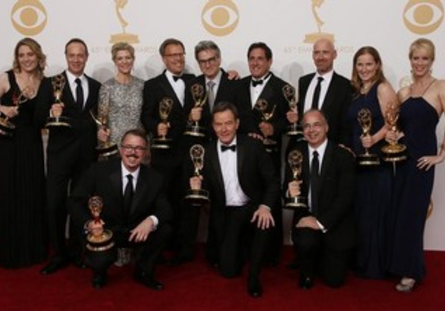 The cast and crew of 'Breaking Bad' took home an emmy award on September 23, 2013.