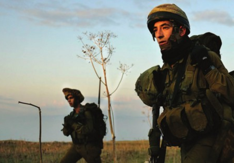 Druze soldiers of the IDF's Herev Battalion in training