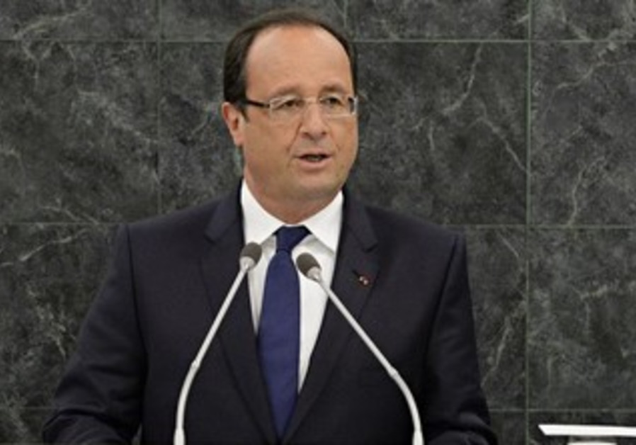 France's President Francois Hollande addresses the UN General Assembly, September 24, 2013.