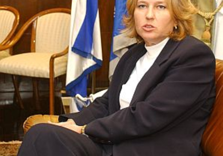 Livni warns two-state solution in danger