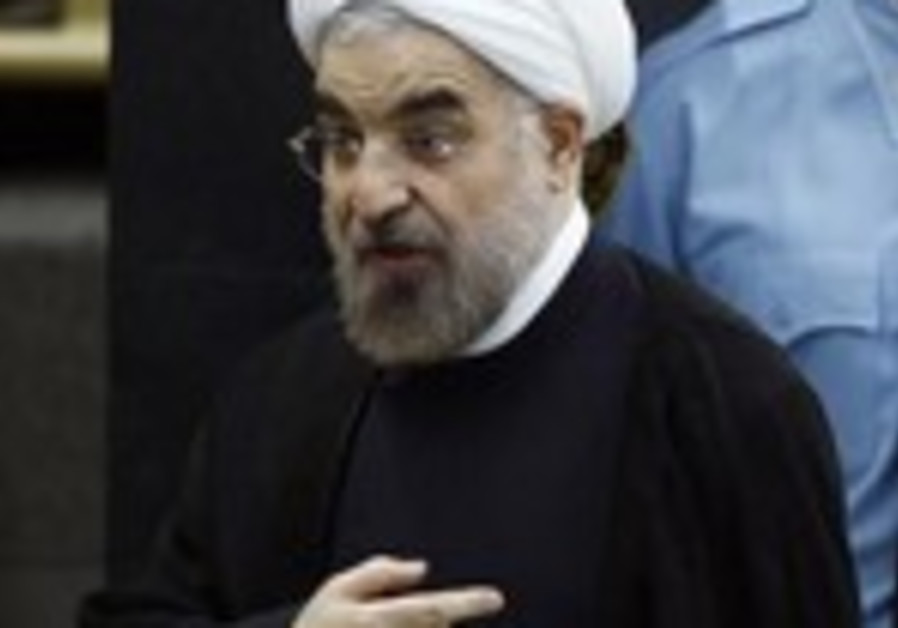 Iranian President Hassan Rouhani at the UN General Assembly, September 24, 2013.