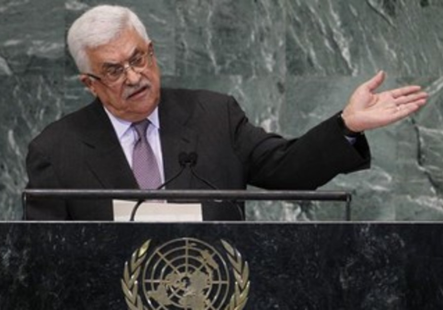 Palestinian Authority President Mahmoud Abbas addresses UN General Assembly, September 27, 2012.