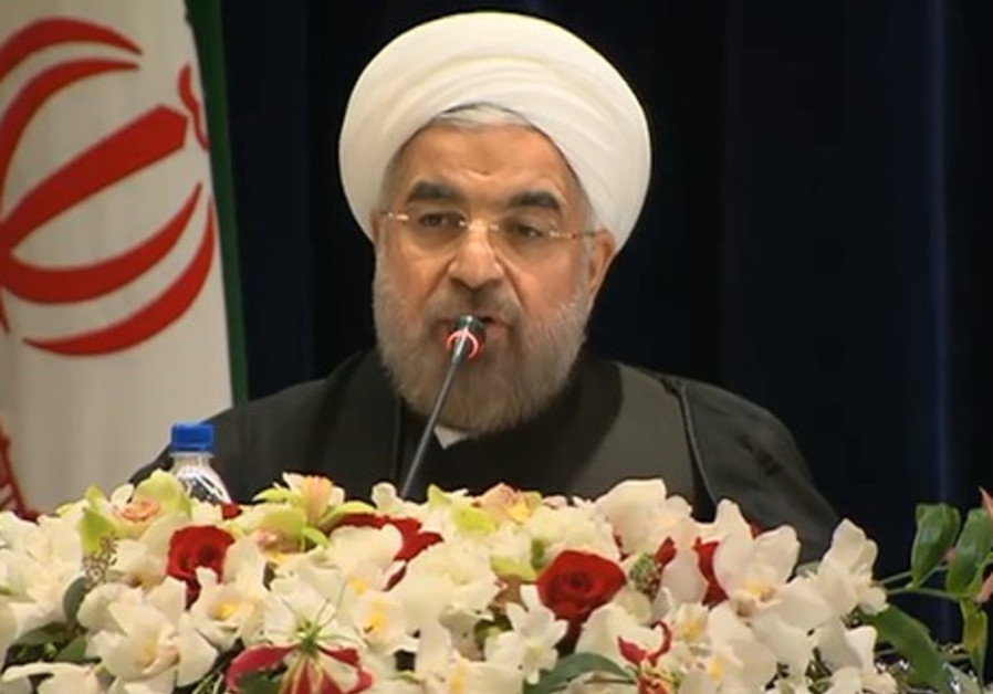 Iranian President Hassan Rouhani holds press conference in New York, September 27, 2013.