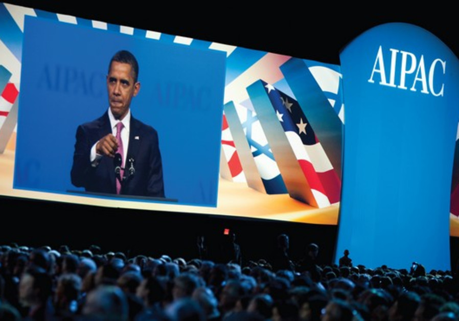 Obama addresses the AIPAC policy conference in Washington.