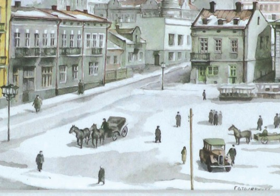The town square in Kalusz in 1936