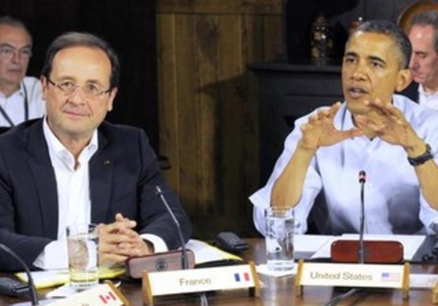 France's President Francois Hollande and US President Barack Obama at the G8 Summit, 2012.