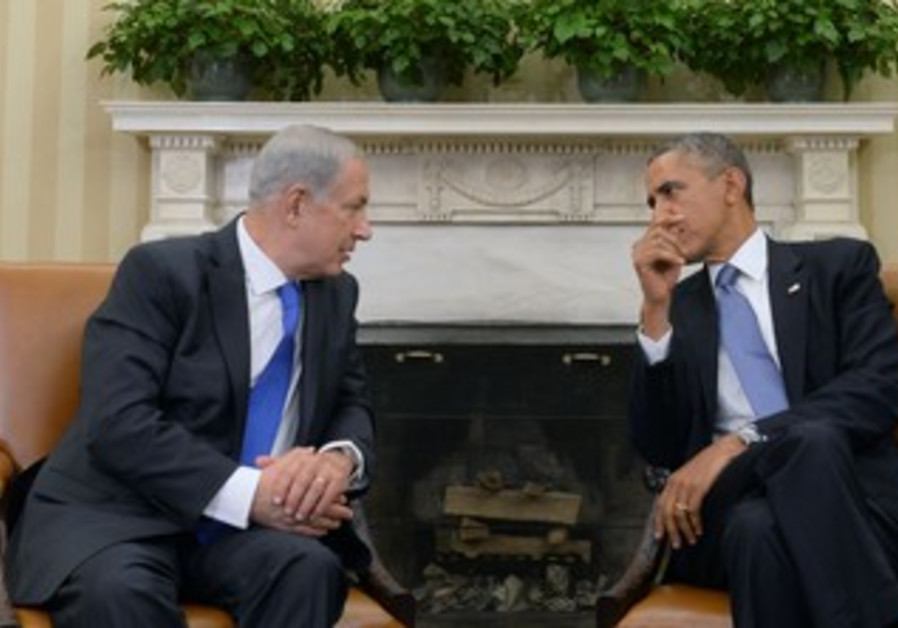 Netanyahu and Obama meet in Washington on September 30, 2013.