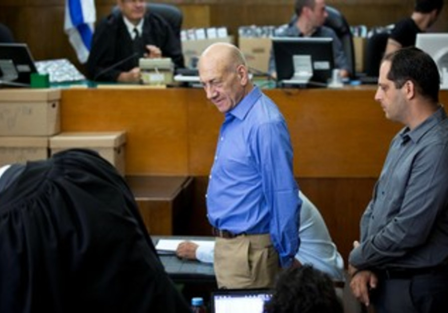 Former prime minister testifies in Holyland trial, October 1, 2013