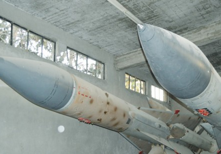 MISSILES ARE seen at a Syrian air defense base