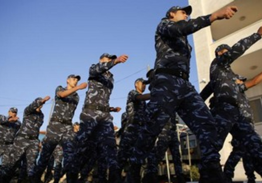 Members of the Palestinian security forces.