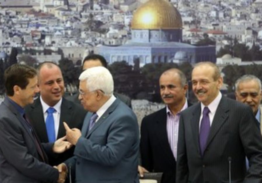 PA President Abbas and MK Hilik Bar in Ramallah