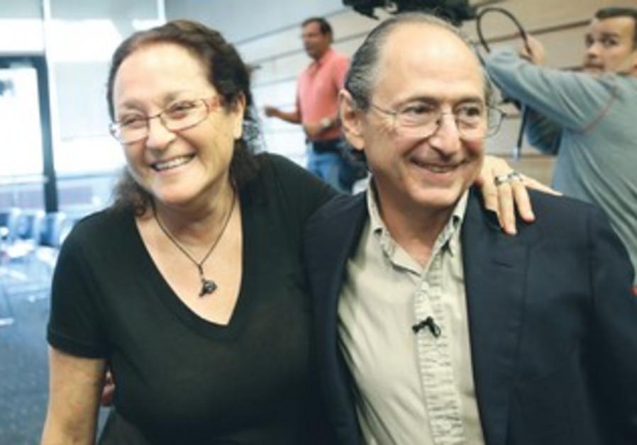 Michael Levitt celebrates Nobel win with wife Rina, October 9, 2013.