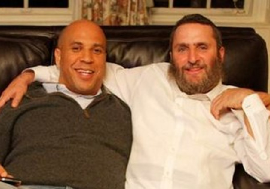 Cory Booker and Rabbi Shmuley Boteach.