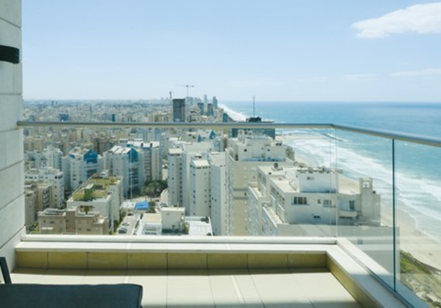 The terrace offers a great view of the coastline in both directions.