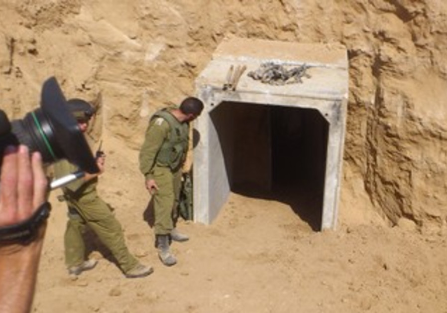 IDF uncovers a tunnel running from Gaza into Israel.
