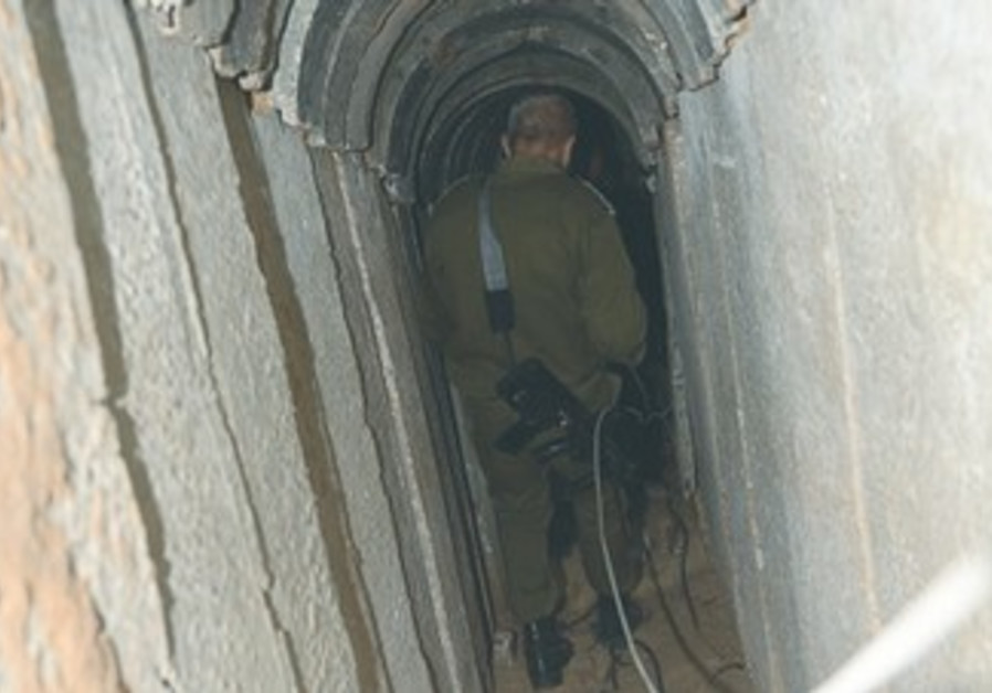 Tunnel leading from Gaza to Israel