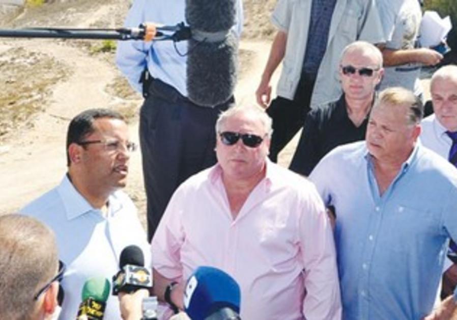 Jerusalem mayoral hopeful Moshe Lion at Mt. Scopus