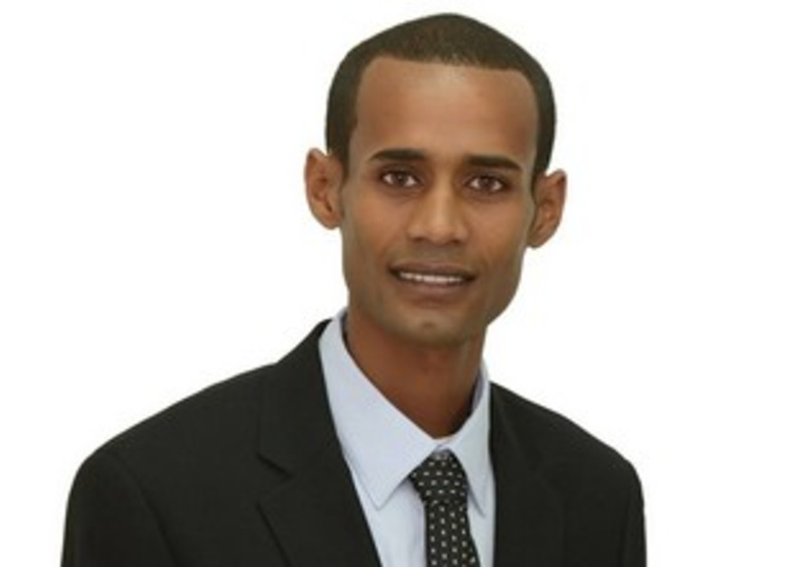 Awake Mengistu, who is running for Kiryat Malachi mayor.