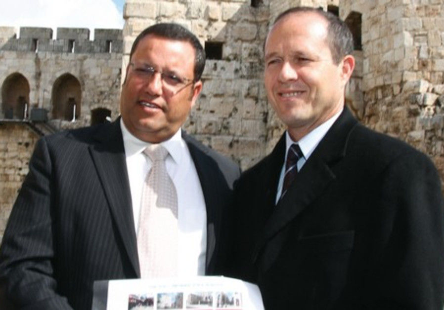 Moshe Lion and Nir Barkat.