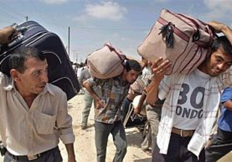 palestinians cross through rafah 298
