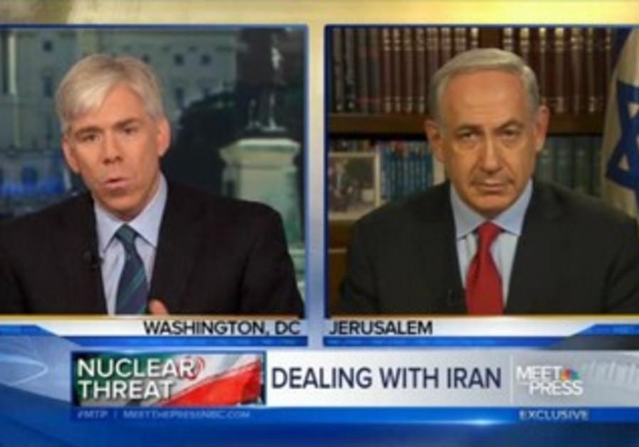 Prime Minister Binyamin Netanyahu on NBC's 'Meet the Press'.