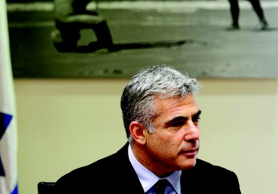 Le ministre des finances Yaïr Lapid
