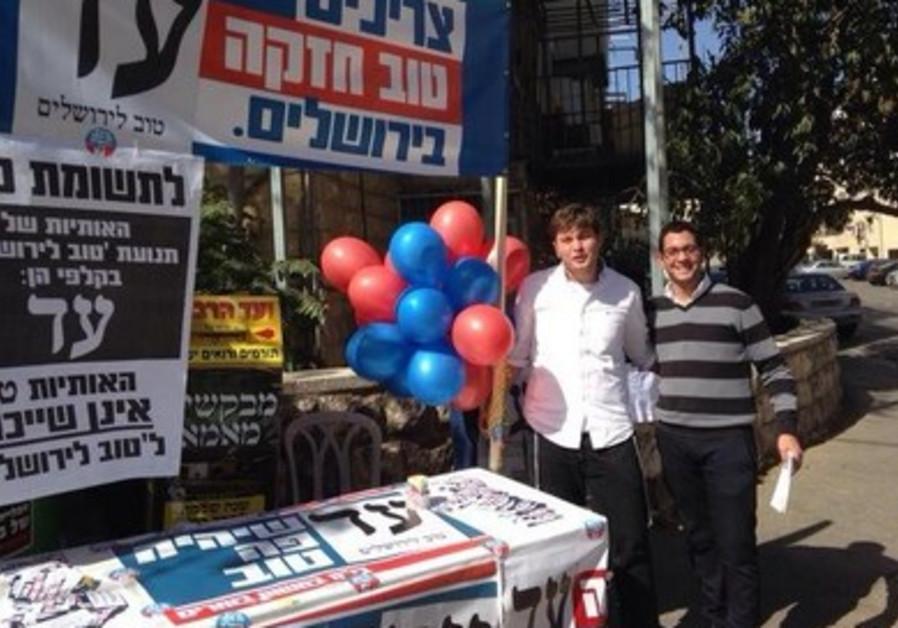 Moderate Haredi Tov party activists  in Jerusalem.
