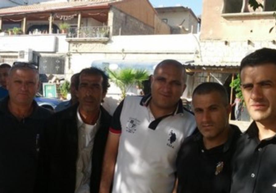 Family of mayoral candidate Adel Badir in Kafr Kasim.