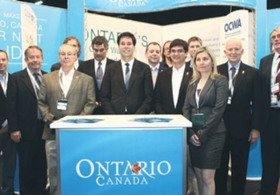 Delegation of businesses at the Water Technology and Environmental Control exhibition.