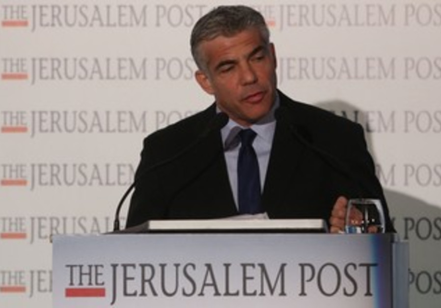Finance Min. Yair Lapid at the JPost Diplomatic Conference