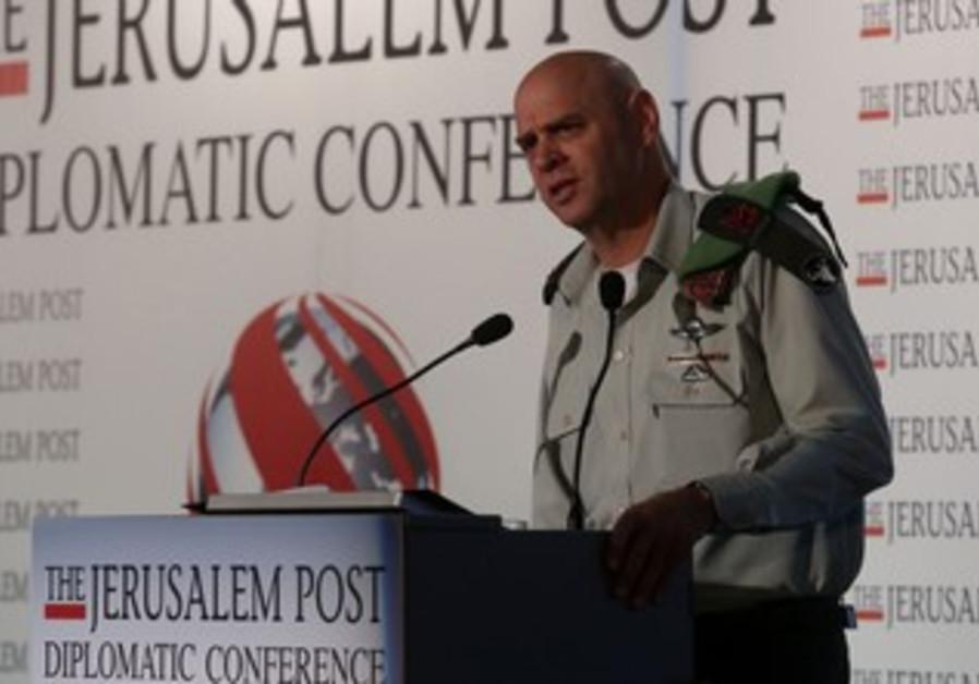 Maj.-Gen. Noam Tibon, commander of the IDF Northern Corps at the Jerusalem Post Conference, Oct 24.