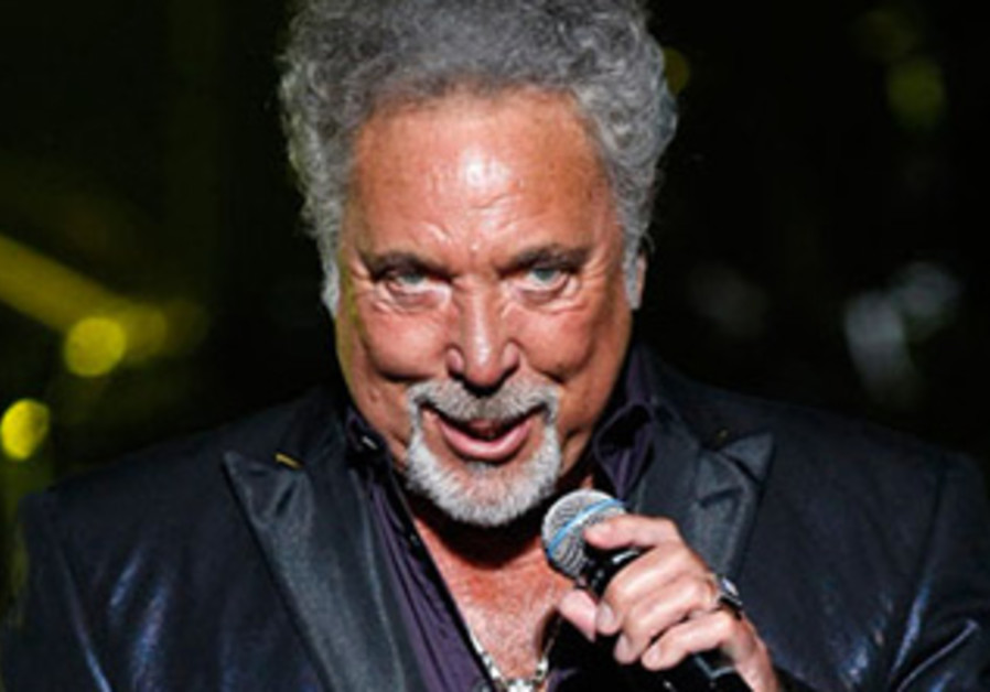 Tom Jones performing live in 2012.