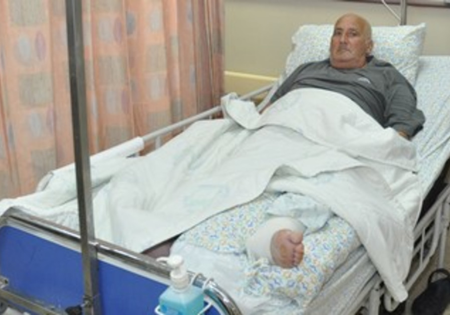 Shlomo Lankri in the hospital.