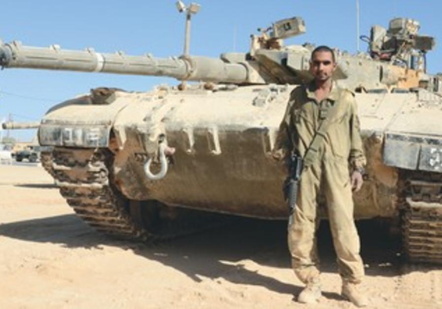 Cpl. Mustafa Tabash, the IDF's first Beduin tank commander