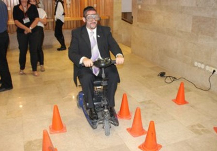 Dov Lipman goes for a test ride.