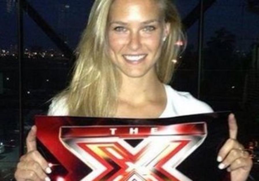 Bar Refaeli promotes The X Factor.
