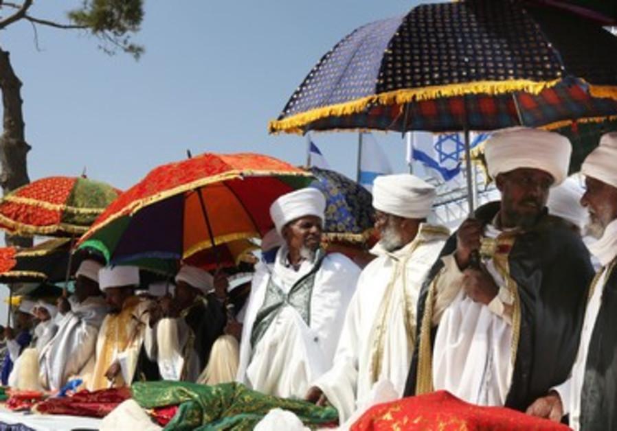Ethiopians celebrate Sig'd in Jerusalem, 2013.