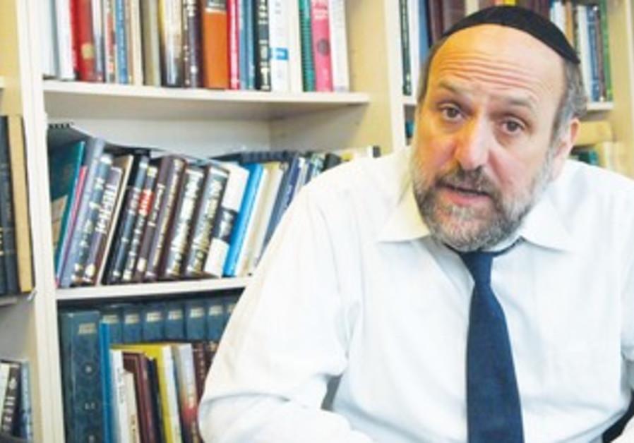 Poland's Chief Rabbi Michael Schudrich in his office, November 3, 2013.