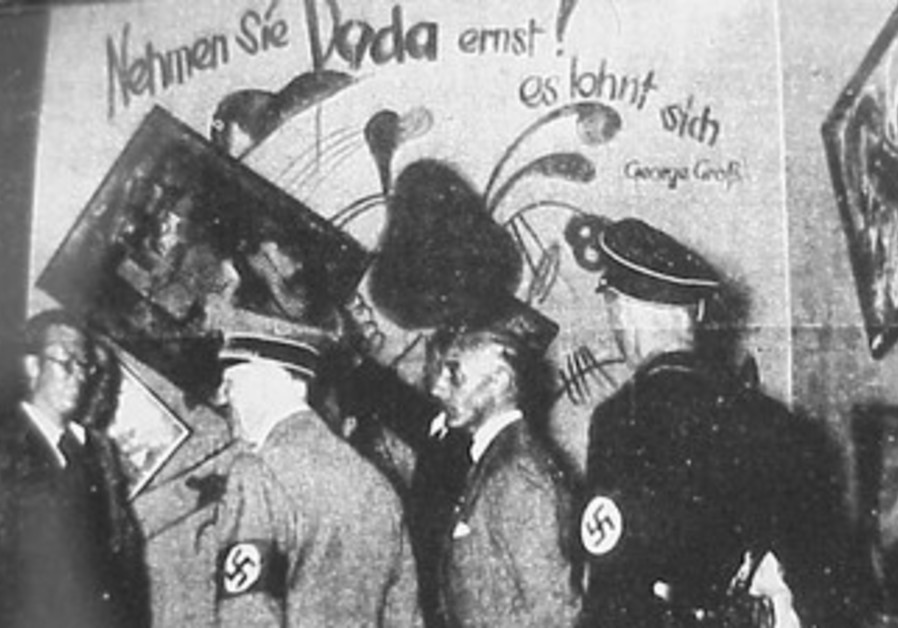 Hitler visits Degenerate Art exhibition
