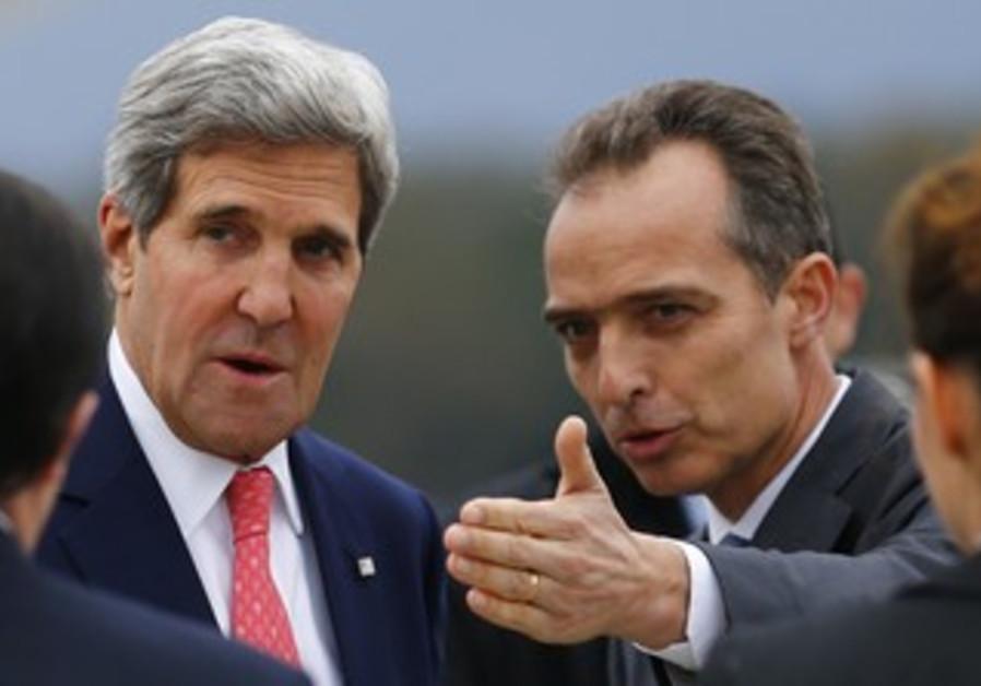 US Secretary of State John Kerry arrives in Geneva for Iran nuclear talks, Nov. 8, 2013